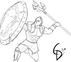 Perseus Pantheon Sketch for RP by Corpse-Killir-PhD