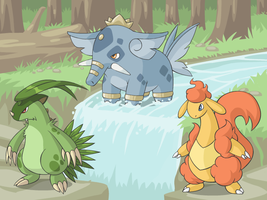 Cyare Starters: Evolved Once More by cobaltdragon