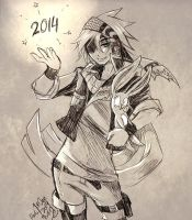 Happy New Year 2014~ Strike! by darkn2ght