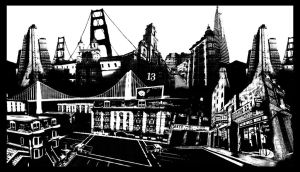 San Fransisco Montage by Bullettrainstudios