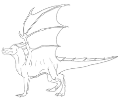 ::CP:: Dragon Lineart by lucidcoyote