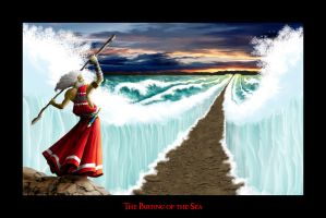 The Parting of the Sea by christians