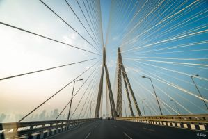 Incredible India - on the bridge in Mumbai by Rikitza
