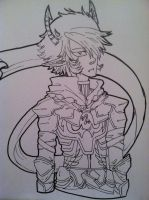 A traitor amongst Knights. [lineart] by 11Captain-captor