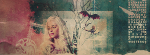 'Daenerys Stormborn', Facebook Cover | Winterowl by taxitoheaven