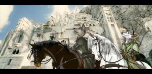 Aelin and Zekee Minas Tirith by Maram