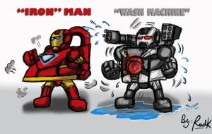 iron man and wash machine by Rud-K