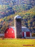 Red Barn And Silo by jim88bro