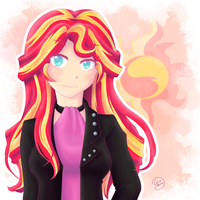 Sunset Shimmer - My little Pony Equestria Girl by konakon24