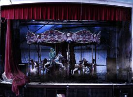 Abandoned carousel by Shadow-of-Nemo