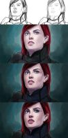 Commander Shepard steps  by MagicnaAnavi