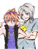 Neku and Joshua by neko-shotaloverOwO