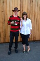 Freddy Kreuger and Mia Wallace Cosplay by masimage