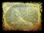 National Novel Writing Month 2013 Calendar by Poyzund