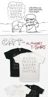 Cat Alphabet T-Shirt by Isibee