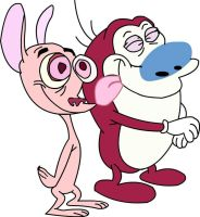 ren and stimpy nicktoons by TheGeekyartist