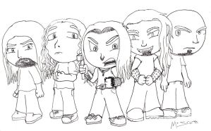 Rock and Metal Chibis: DevilDriver by HypoThermus