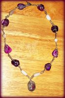 Precious Stone Wire Wrapped Necklace by LadyAriessTemptra
