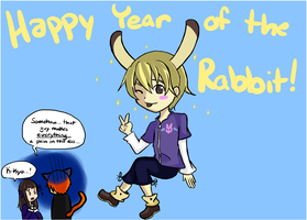 Happy Year of the Rabbit by Melody-Of-Logic