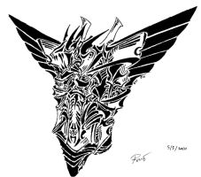 Tribal Devil Symbol 2 by RoyCorleone