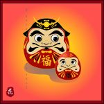 Daruma Father and Son by broom-rider
