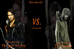 Katniss vs. Robin Hood by maximumride1995