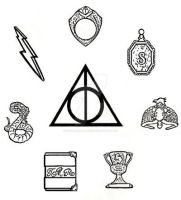 Harry Potter Deathly Hallows and Horcruxes by OutlawHeart1313