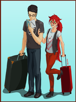 Off on our Honeymoon by Saya1984