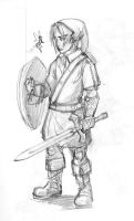 the young hero, Link by azimuth-oakes