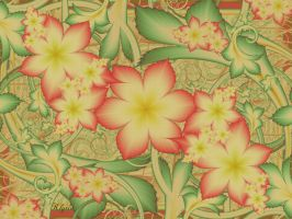 The tapestry of flowers and leaves by Klytia70