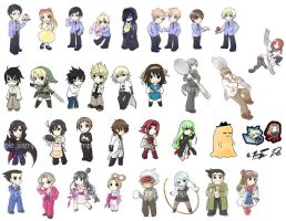 Assorted Chibi Set by Pompi