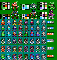 Mega Man and Bass Robot Masters by mike1967-now