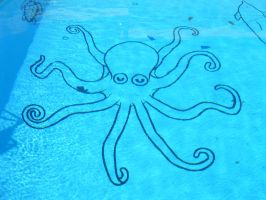 Pool Mural Octopus Commission by Sofera