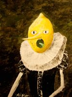 Lemongrab Painting by Valashard