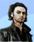 Aidan Turner as Mitchell Colorized by SHParsons