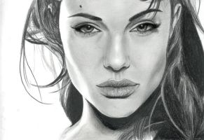 Angelina Jolie by lycanmellow