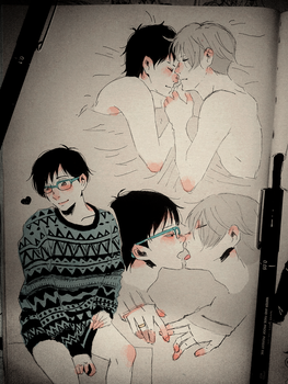 Victuuri Doodles ... Part 1 by ShitYuuki