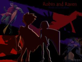 Robin And Raven Wallpaper by MrsSakuraPotter