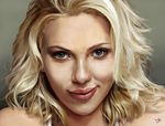 Scarlett Johansson Portrait Updated by Daveastation