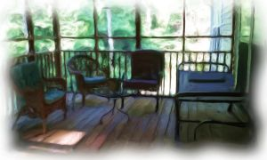 Backporch by amy-WednesdaysChild