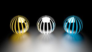 Striped Spheres by Dario999