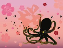 Sakura Octopus by komfortnetwork