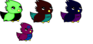 points adoptable birds ( open) by ResidentEvilhunters