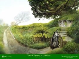 Gandalf Returns to Hobbiton by dayzednconfuzd
