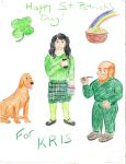 Happy St. Patricks's Day Kris by AmongTheFirst