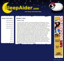 SleepAider.com Layout by datamouse
