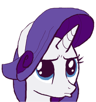 Rarity Duck Face by Ironwox