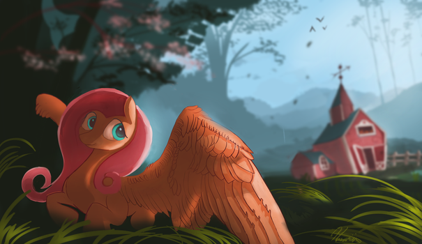 Beyond the mountains by Auroriia