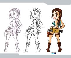 Lara by Razzberryd: steps by Chizel-Man