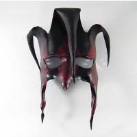 Jester Leather Handmade Mask by Shadows-Ink